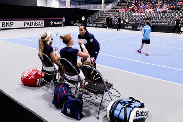 Katie Boulter Great Britain v Portugal - Davis Cup by BNP Paribas Europe/Africa Group B