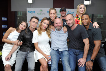 Katie Cassidy Stephen Amell Xbox VIP Lounge At The Hard Rock Hotel