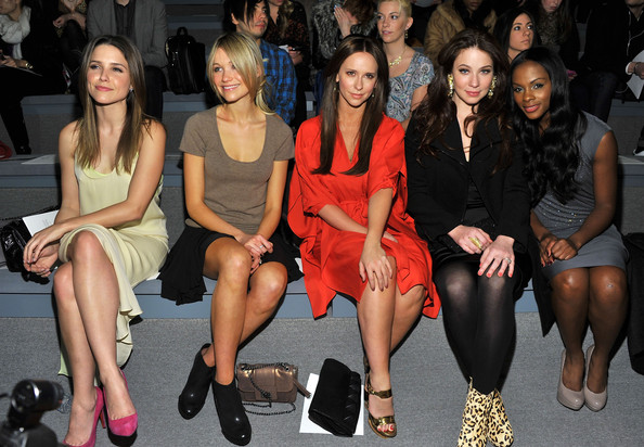Jennifer Love Hewitt and Katrina Bowden - Max Azria - Front Row - Fall 2011 Mercedes-Benz Fashion Week
