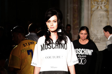 Katy Perry Celebs at 'Moschino' Men's Front Row Spring/Summer 2016 During the 88 Pitti Uomo