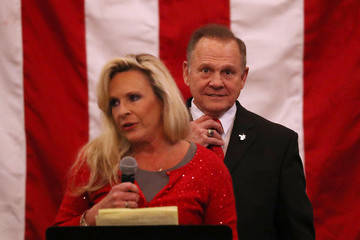 Kayla Moore GOP Senate Candidate Judge Roy Moore Holds Rally on Eve of Election