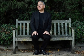 Kazuo Ishiguro British Author Kazuo Ishiguro Holds a Press Conference in London