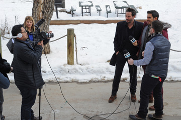 Keanu Reeves Eli Roth Music Lodge Hosts MTV Interview Studio - Day 1 - 2015 Park City
