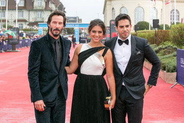 Keanu Reeves Lorenza Izzo 'Knock Knock' Red Carpet - 41st Deauville American Film Festival
