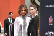 Halle Berry and Asia Kate Dillon attend 'Keanu Reeves places his hand prints in cement' at TCL Chinese Theatre IMAX on May 14, 2019 in Hollywood, California.
