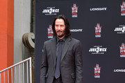 Keanu Reeves is honored with a handprint ceremony at the TCL Chinese Theatre IMAX forecourt on May 14, 2019 in Hollywood, California.
