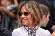 Halle Berry attends a handprint ceremony honoring Keanu Reeves at the TCL Chinese Theatre IMAX forecourt on May 14, 2019 in Hollywood, California.
