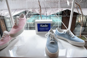 Keds shoes on display as Keds celebrates International Women's Day with Violetta Komyshan at Manhattan Plaza Racquet Club on March 8, 2018 in New York City.