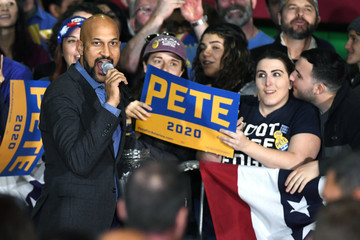 Keegan-Michael Key Presidential Candidate Pete Buttigieg Holds Campaign Rally In Las Vegas