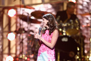 """Singer Nikki Yanofsky performs during the 17th annual Keep Memory Alive """"Power of Love Gala"""" benefit for the Cleveland Clinic Lou Ruvo Center for Brain Health celebrating the 80th birthdays of Quincy Jones and Sir Michael Caine on April 13, 2013 in Las Vegas, Nevada."""