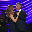Celine Dion and Andrea Bocelli Photos