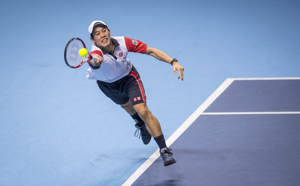 Kei+Nishikori+Barclays+ATP+World+Tour+Fi