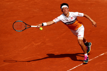 Kei Nishikori 2019 French Open - Day Six