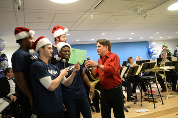 Keith Lockhart New England Patriots Deliver Holiday Cheer To Patients At Boston Children's Hospital