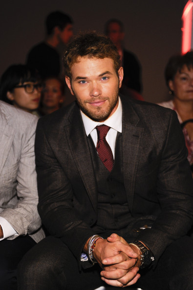 Kellan Lutz Actor Kellan Lutz front row for Parke and Rohen at Exit Art on September 9, 2011 in New York City.