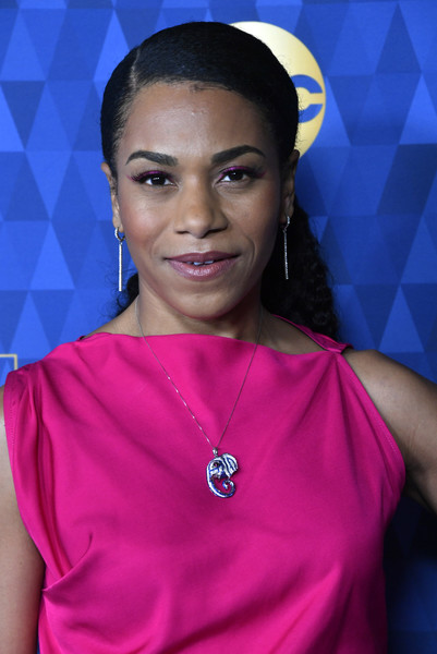 ABC Television's Winter Press Tour 2020 - Arrivals [winter press tour 2020 - arrivals,face,beauty,eyebrow,lady,lip,fashion,forehead,electric blue,black hair,model,kelly mccreary,pasadena,california,the langham huntington,abc television,winter press tour 2020,kelly mccreary,greys anatomy,actor,regency village theatre,nate holden performing arts center,television,photograph,image]