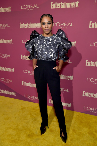 Entertainment Weekly And L'Oreal Paris Hosts The 2019 Pre-Emmy Party - Arrivals [clothing,red carpet,fashion,carpet,footwear,flooring,joint,fashion design,black hair,shoe,arrivals,kelly mccreary,l\u00e2,sunset tower hotel,entertainment weekly,loreal paris hosts,party,tmoreal paris,pre-emmy party]