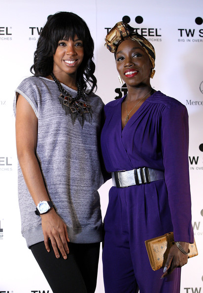 TW Steel Presents Kelly Rowland [fashion,purple,fashion design,event,outerwear,style,tw steel presents kelly rowland,estelle,l-r,partnership,dutch,london,united kingdom,tw steel,event]