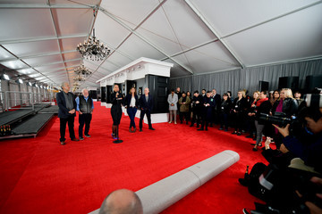 Ken Ehrlich Chantel Saucedo 61st Annual Grammy Awards Red Carpet Roll Out And Preview Day