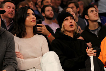 Kendall Jenner Hailey Bieber Los Angeles Clippers v New York Knicks