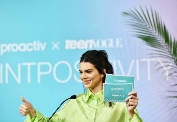 Kendall Jenner Joins Proactiv And Teen Vogue At Paint Positivity: Because Words Matter Event In NYC On June 20th