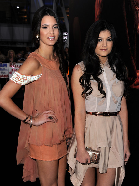 "Kendall Jenner TV personalities Kendall Jenner (L) and Kylie Jenner arrive at the premiere of Summit Entertainment's ""The Twilight Saga: Breaking Dawn - Part 1"" at Nokia Theatre L.A. Live on November 14, 2011 in Los Angeles, California."