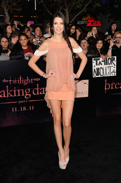"Kendall Jenner TV personality Kendall Jenner arrives at Summit Entertainment's ""The Twilight Saga: Breaking Dawn - Part 1"" premiere at Nokia Theatre L.A. Live on November 14, 2011 in Los Angeles, California."