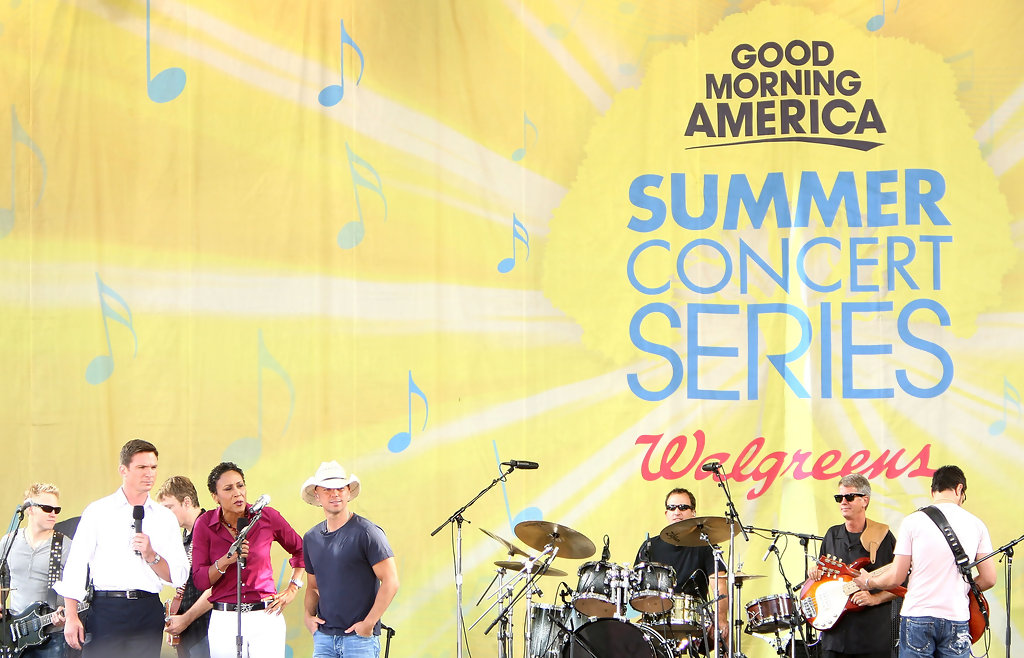 Good Morning America How Are You Chords : Kenny chesney photos performs on