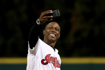Kenny Lofton World Series - Chicago Cubs v Cleveland Indians - Game One