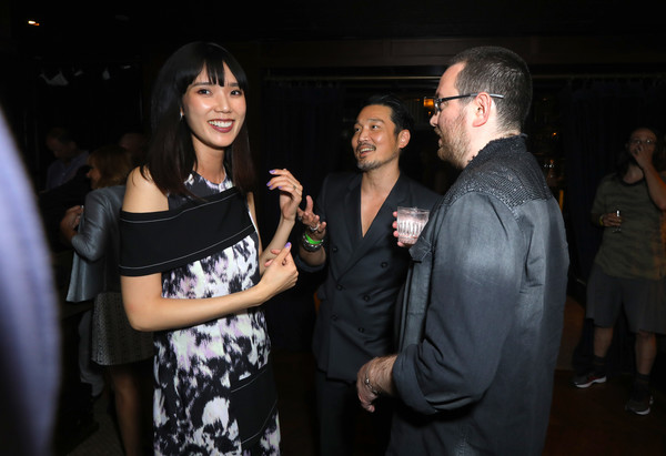 Premiere Of Breaking Glass Pictures' 'She's Just A Shadow' - After Party [shes just a shadow,breaking glass pictures,event,fashion,design,fun,party,night,hand,photography,flash photography,formal wear,adam sherman,actors,tao okamoto,l-r,party,premiere,premiere,party]