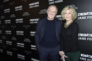 Francois-Henri Pinault and Jane Fonda attend Kering Women In Motion Master Class With Jane Fonda at la cinematheque on October 22, 2018 in Paris, France.