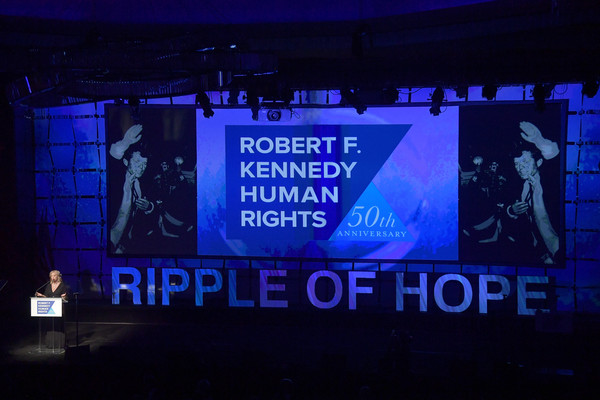 2019 Robert F. Kennedy Human Rights Ripple Of Hope Awards - Inside [kerry kennedy,robert f. kennedy human rights ripple of hope awards,robert f. kennedy human rights,display device,led display,display advertising,advertising,stage,signage,technology,electronic signage,electronic device,flat panel display,new york city]