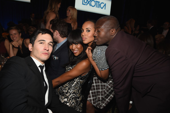 Kerry Washington (L-R) Lazaro Hernandez, Naomi Campbell, Kerry Washington and Edward Enninful attend the 18th Annual Accessories Council ACE Awards At Cipriani 42nd Street at Cipriani 42nd Street on November 3, 2014 in New York City.