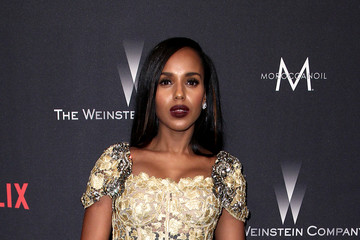 Kerry Washington The Weinstein Company and Netflix Golden Globe Party, Presented With FIJI Water, Grey Goose Vodka, Lindt Chocolate, and Moroccanoil - Red Carpet