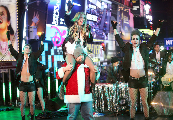 Kesha Singer Ke$ha performs during New Year's Eve 2011 in Times Square on