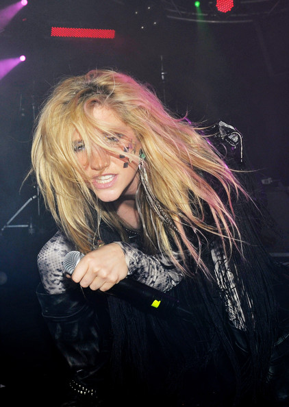 Kesha Singer Kesha performs on stage at the Penelope CLub on June 10,