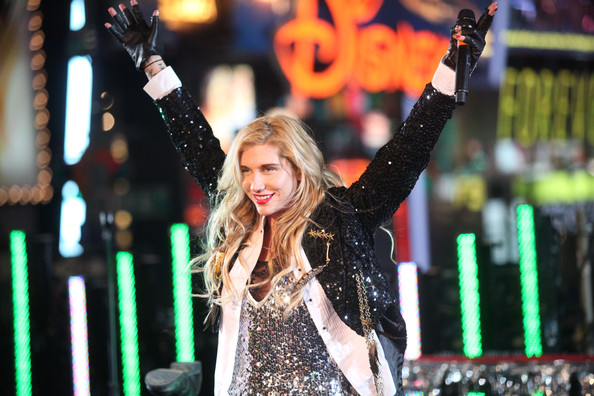 Kesha Singer Ke$ha celebrates New Year's Eve 2011 in Times Square on December 31, 2010 in New York City.