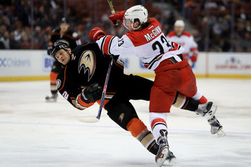 Kevin Bieksa Carolina Hurricanes v Anaheim Ducks