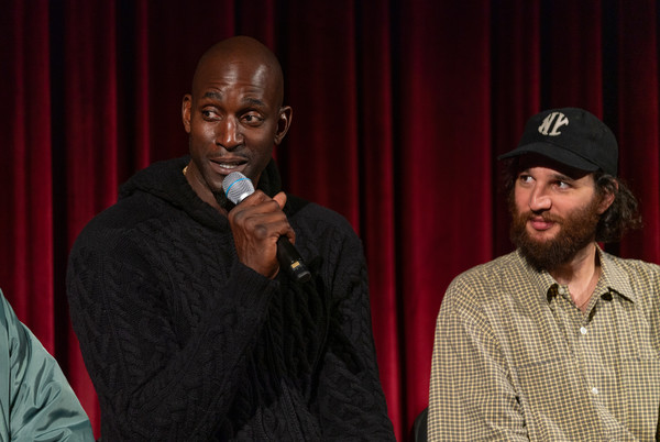 The Academy Of Motion Picture Arts And Sciences Screening Of 'UNCUT GEMS' [the academy of motion picture arts sciences hosts an official academy screening of uncut gems,event,talent show,adaptation,performance,audio equipment,singing,facial hair,kevin garnett,josh safdie,moma - celeste bartos theater,new york city,academy of motion picture arts sciences hosts an official academy screening of uncut gems]
