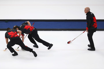 Kevin Koe Curling - Winter Olympics Day 13