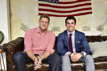 Kevin Lavelle J.J. Watt at Mizzen+Main Pop-Up Shop in San Francisco