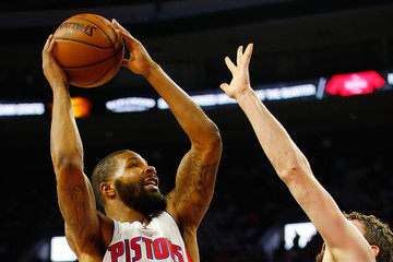 Kevin Love Marcus Morris Cleveland Cavaliers v Detroit Pistons - Game Three