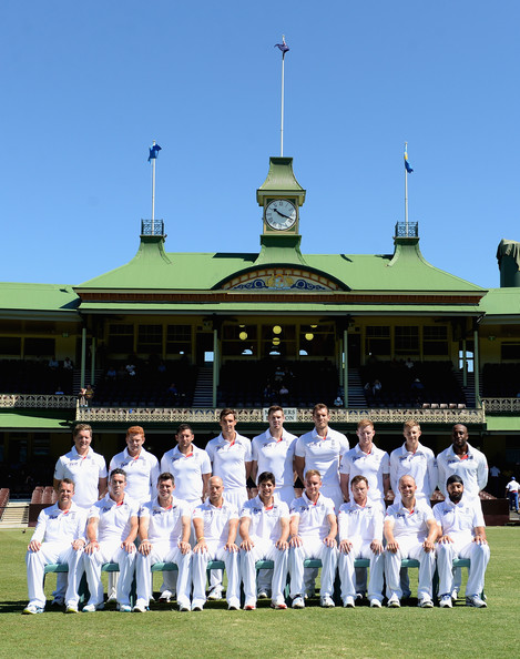 CA Invitational XI v England: Day 2 [team,cricket,team sport,uniform,championship,sport venue,player,sports,games,bat-and-ball games,team,gary ballance,jonathan bairstow,ben stokes,joe root,back row,front row,england,sydney cricket ground,ca invitational xi]