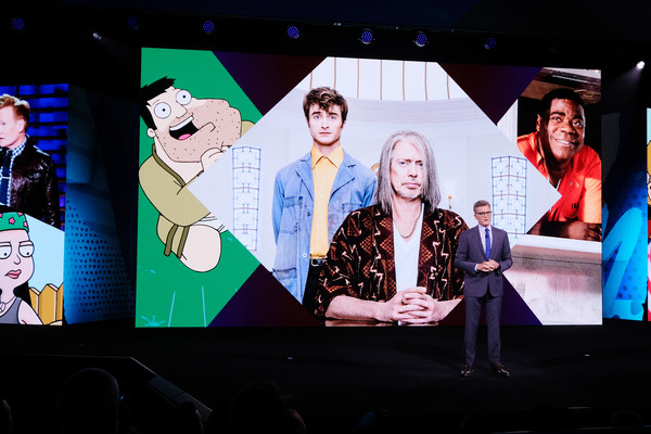 WarnerMedia Upfront 2019 - Show [upfront 2019 - show,stage,musical,event,performance,heater,display device,performing arts,art,media,musical theatre,kevin reilly,president,chief creative officer,warnermedia direct-to-consumer,warnermedia,tnt,tbs,warnermedia upfront 2019,show]