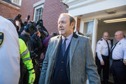 Actor Kevin Spacey leaves Nantucket District Court after being arraigned on sexual assault charges on January 7, 2019 in Nantucket, Massachusetts.