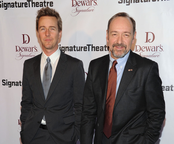 Photo of Edward Norton & his friend  Kevin Spacey
