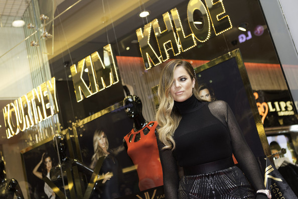 Khloe Kardashian launches the Kardashian collection for Lipsy on November 17, 2013 in Dubai, United Arab Emirates.