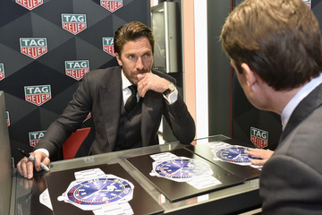 Kilian Muller NY Rangers Goalie And TAG Heuer Brand Ambassador, Henrik Lundqvist, Celebrates The Opening Of The New Fifth Avenue Flagship Boutique