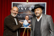 Keith Allen and George Galloway attend the premiere of The Killing$ Of Tony Blair at Curzon Soho on July 27, 2016 in London, England.