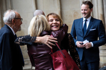 Kim Cattrall Memorial Service Takes Place For Theatre Great Sir Peter Hall OBE